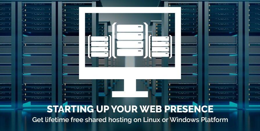 Get lifetime free shared hosting on Linux or Windows Platform