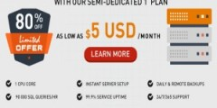 Semi-Dedicated Servers 80% Off